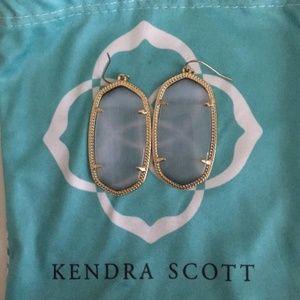 NWT Kendra Scott Danielle Earrings in Slate Gray
